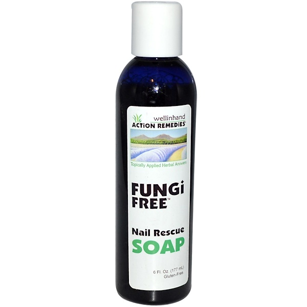 Wellinhand Action Remedies, Action Remedies, FungiFree, Nail Rescue Soap, 6 fl oz (177 ml) (Discontinued Item)
