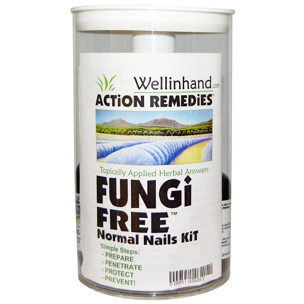 Wellinhand Action Remedies, Fungi Free Normal Nails Kit, 4 Pieces (Discontinued Item)