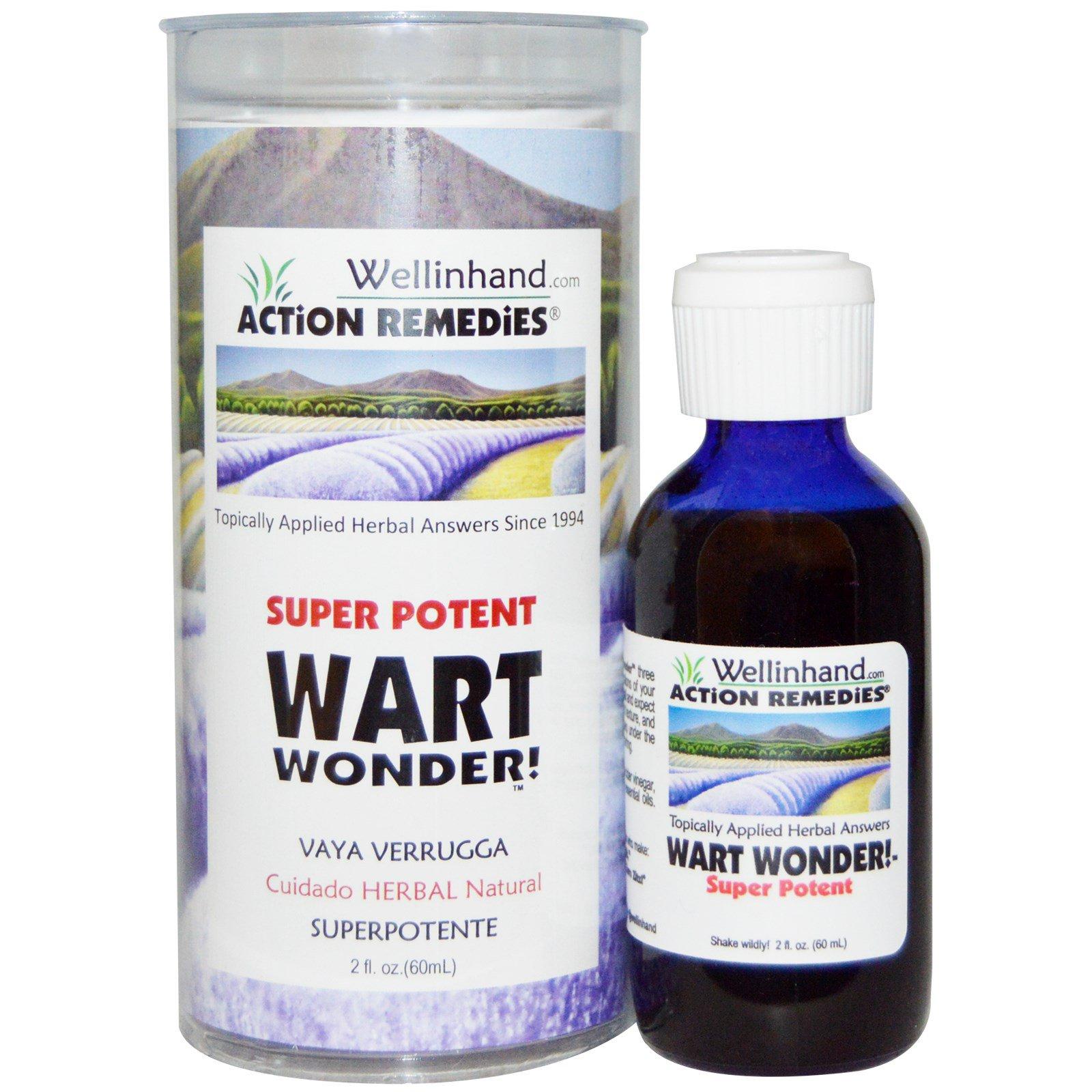 Wellinhand Action Remedies, Super Potent, Wart Wonder!, 2 fl oz (60