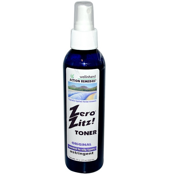 Wellinhand Action Remedies, Zero Zitz Toner, Original, Astringent, 8 fl oz (177 ml) (Discontinued Item)