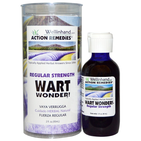 Wellinhand Action Remedies, Wart Wonder, Regular Strength, 2 fl oz (60 ml)