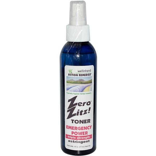 Wellinhand Action Remedies, Zero Zitz Toner, Triple Strength, 6 fl oz (177 ml) (Discontinued Item)
