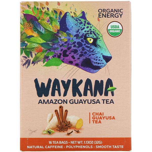 Waykana, Té Amazon Guayusa, chai Guayusa, 16 saquitos de té, 32g (1,13oz) (Discontinued Item)