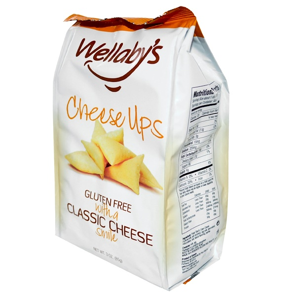 Wellaby's, Cheese Ups, Classic Cheese, 6 Bags, 3 oz (85 g) Each (Discontinued Item)