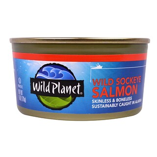 Wild Planet, Wild Sockeye Salmon, Skinless & Boneless, 6 oz (170 g)