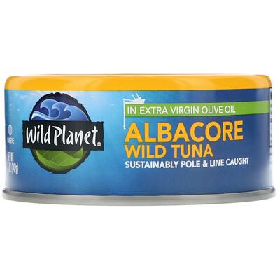 Wild Planet Дикий тунец альбакор в оливковом масле первого холодного отжима, 142 г  - купить со скидкой