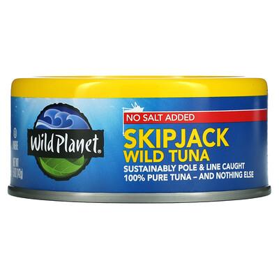 Купить Wild Planet No Salt Added, Skipjack Wild Tuna, 5 oz (142 g)