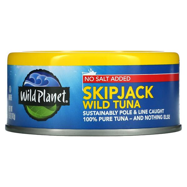 Wild Planet, No Salt Added, Skipjack Wild Tuna, 5 oz (142 g)