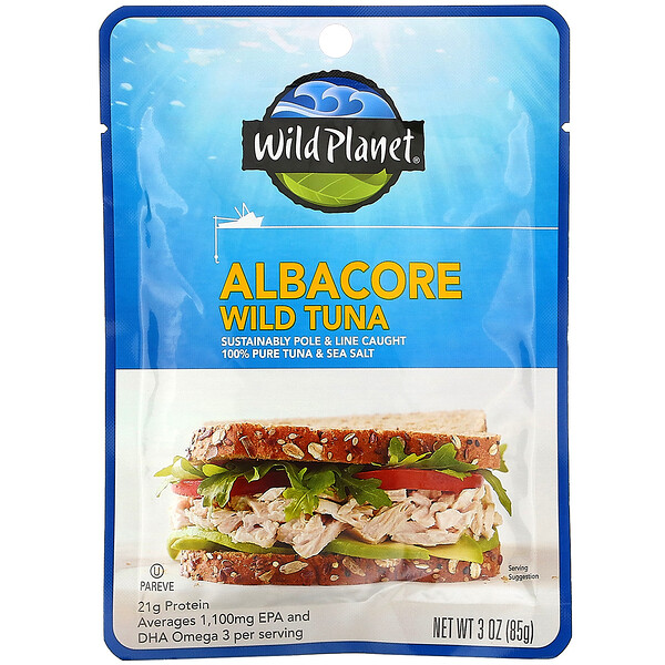 Wild Planet, Albacore Wild Tuna, 3 oz (85 g)