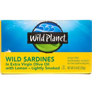 Вайлд Планет, Wild Sardines In Extra Virgin Oil with Lemon, 4.4 oz (125 g) отзывы покупателей