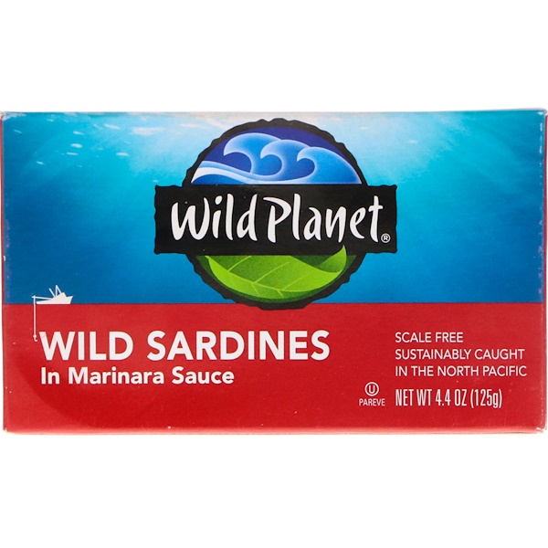Wild Planet, Wild Sardines In Marinara Sauce, 4.4 oz (125 g) (Discontinued Item)