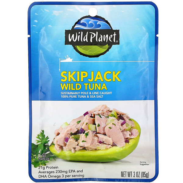 Wild Planet, Skipjack Wild Tuna, 3 oz (85 g)