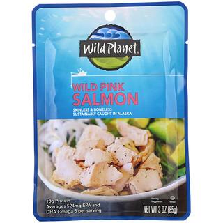 Wild Planet, Wild Pink Salmon Skinless & Boneless, 3 oz (85 g)