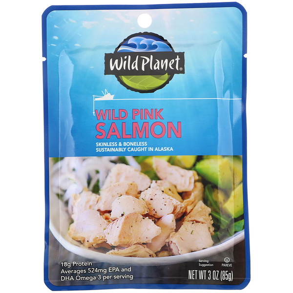 Wild Pink Salmon Skinless & Boneless, 3 oz (85 g)