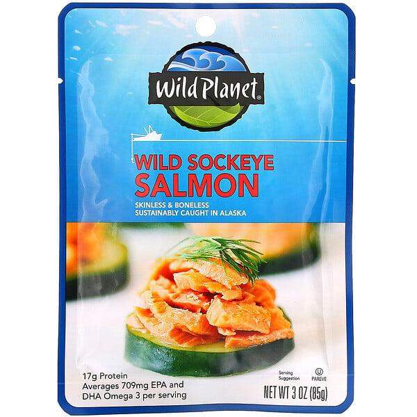 Wild Sockeye Salmon, 3 oz (85 g)