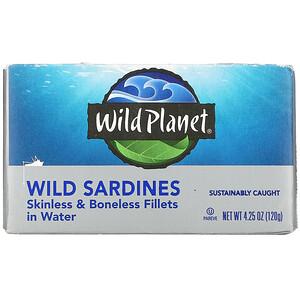Вайлд Планет, Wild Sardines, Skinless & Boneless Fillets in Water, 4.25 oz (120 g) отзывы