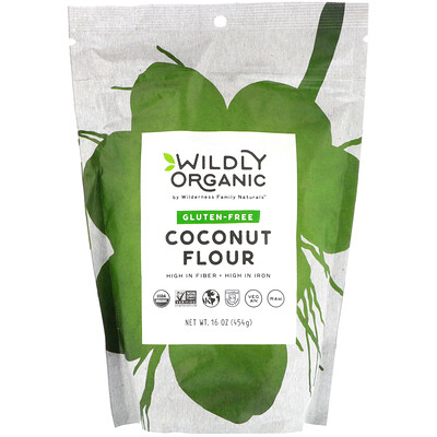 Купить Wildly Organic Coconut Flour, Gluten-Free, 16 oz (454 g)