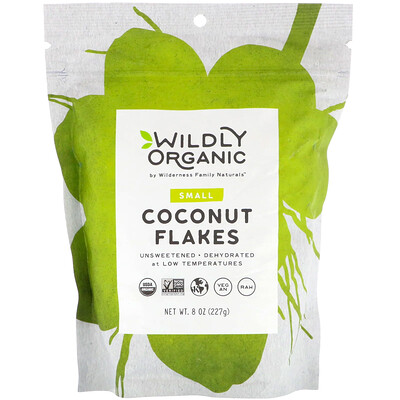 Wildly Organic Coconut Flakes, Small, 8 oz (227 g)