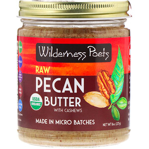 Вилдернес Поэтс, Organic Raw Pecan Butter with Cashews, 8 oz (227 g) отзывы покупателей