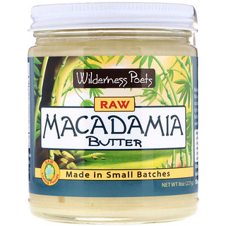 Wilderness Poets, Raw Macadamia Butter, 8 oz (227 g)
