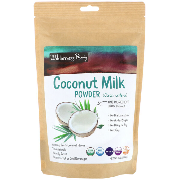 Wilderness Poets, Leche de coco en polvo, 226,8 g (8 oz) (Discontinued Item)