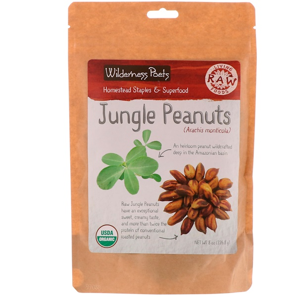 Wilderness Poets, Jungle Peanuts, 8 oz (226.8 g) (Discontinued Item)