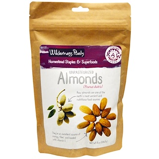 Wilderness Poets, Unpasteurized Almonds, 8 oz (226.8 g)