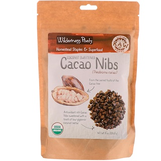 Wilderness Poets, Coconut Sweetened Cacao Nibs, 8 oz (226.8 g)