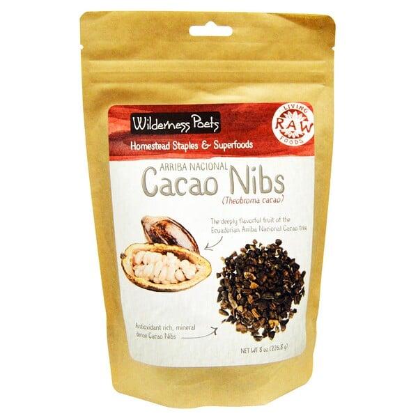 Wilderness Poets, Arriba Nacional Cacao Nibs, 8 oz (226.8 g) (Discontinued Item)
