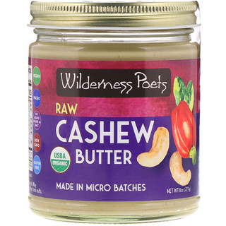 Wilderness Poets, Raw Cashew Butter, 8 oz (227 g)