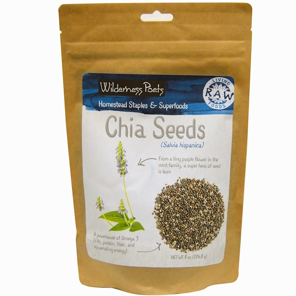 Wilderness Poets, Chia Seeds, 8 oz (226.8 g) (Discontinued Item)