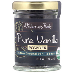 Wilderness Poets, Pure Vanilla Powder, Tahitian Ground Vanilla Beans, 1 oz (28 g)