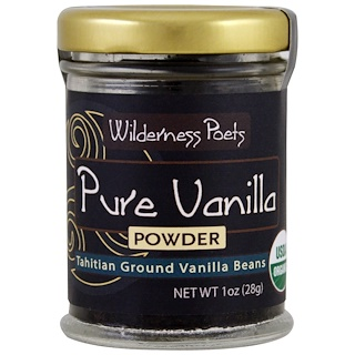 Wilderness Poets, Pure Vanilla Powder, Tahitian Ground Vanilla Beans, 1 oz (28 g)