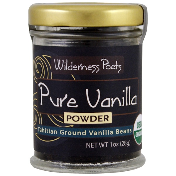 Wilderness Poets, Pure Vanilla Powder, Tahitian Ground Vanilla Beans, 1 oz (28 g) (Discontinued Item)