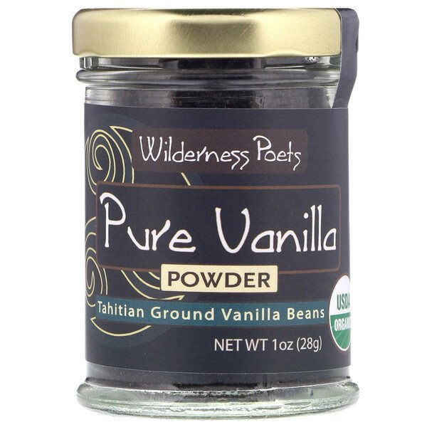 Pure Vanilla Powder, Tahitian Ground Vanilla Beans, 1 oz (28 g)