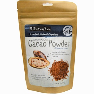 Wilderness Poets, Cacao Powder, 6 oz (170 g)