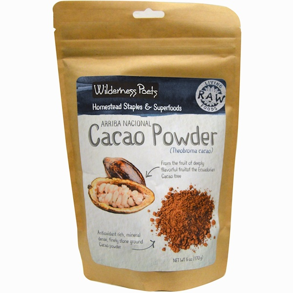 Wilderness Poets, Cacao Powder, 6 oz (170 g)