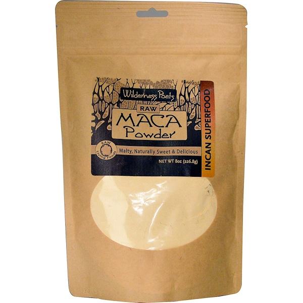 Wilderness Poets, Raw Maca Powder, 8 oz (226.8 g) (Discontinued Item)