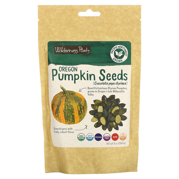 Wilderness Poets, Oregon Pumpkin Seeds, 8 oz (226.8 g)