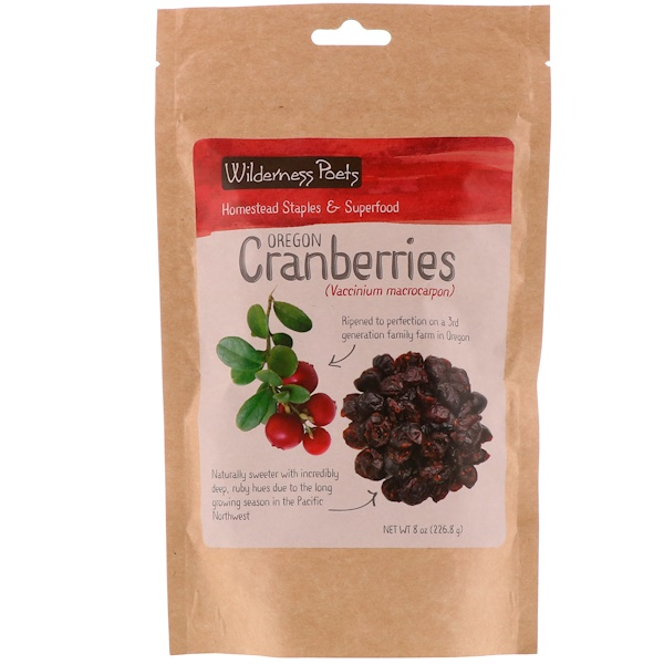 Wilderness Poets, Oregon Cranberries, 8 oz (226.8 g) (Discontinued Item)