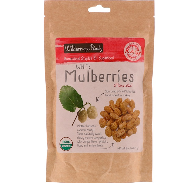 Wilderness Poets, White Mulberries, 8 oz (226.8 g) (Discontinued Item)