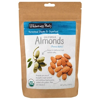 Wilderness Poets, Almendras de california, 8 oz (226,8 g)