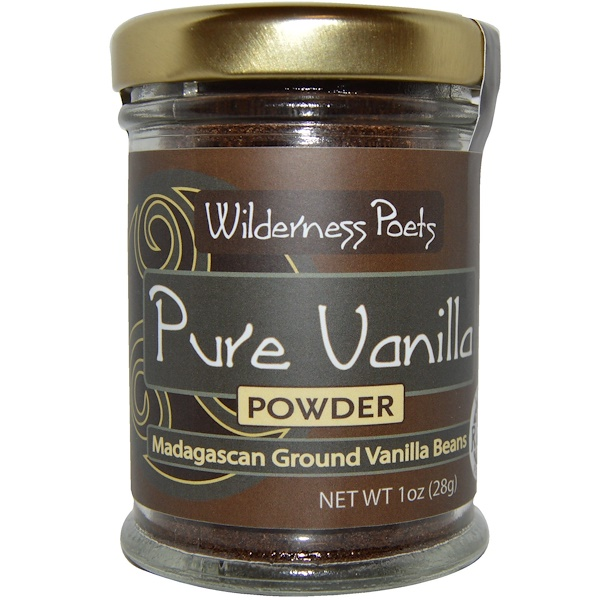Wilderness Poets, Pure Vanilla Powder, Madagascan Ground Vanilla Beans, Farm Grown, 1 oz (28 g) (Discontinued Item)