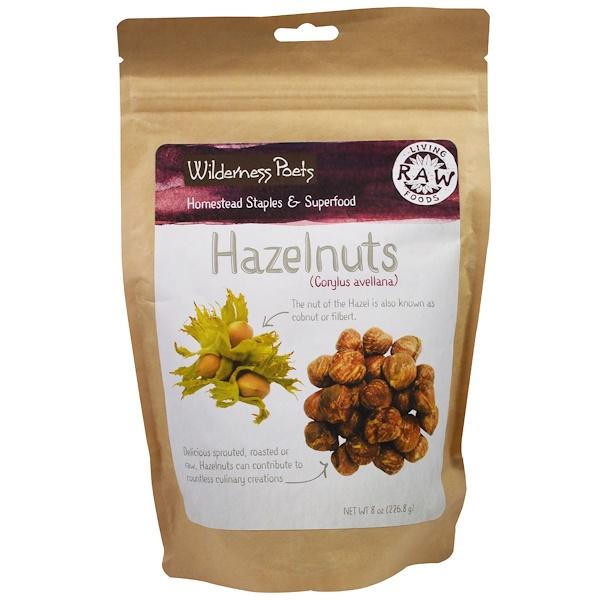 Wilderness Poets, Hazelnuts, 8 oz (226.8 g)
