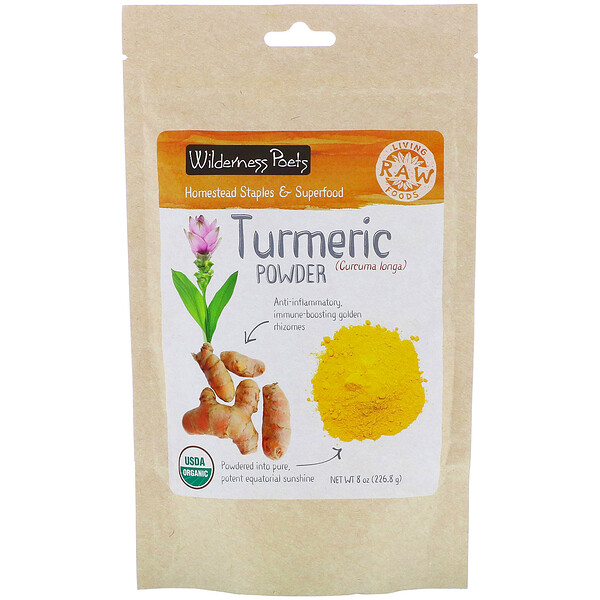 Wilderness Poets, Turmeric Powder, 8 oz (226.8 g)