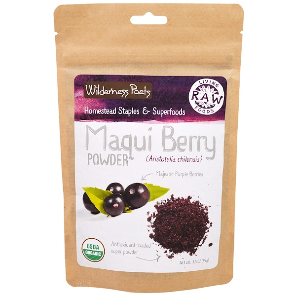 Wilderness Poets, Living Raw Foods, Maqui Berry Powder, 3.5 oz (99 g)