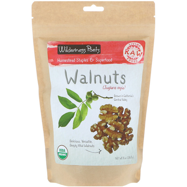 Wilderness Poets, Organic Walnuts, 8 oz (226.8 g)