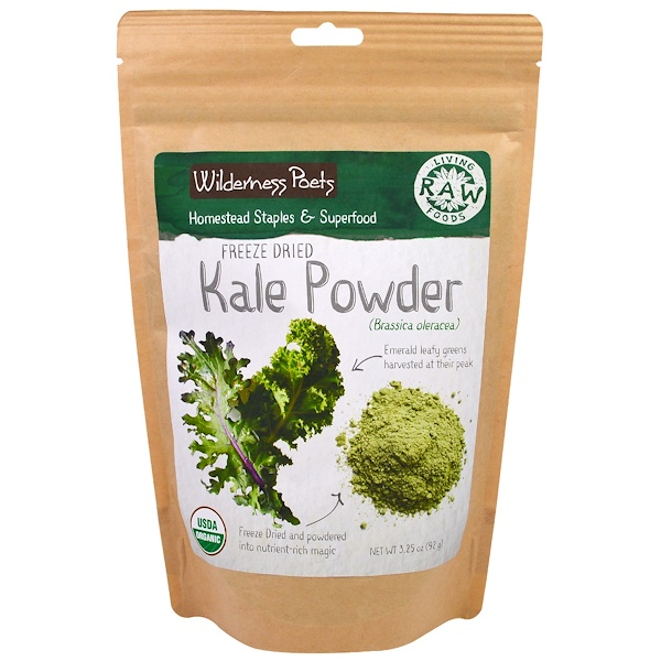 Wilderness Poets, Living Raw Foods, Freeze Dried Kale Powder, 3.25 oz (92 g)