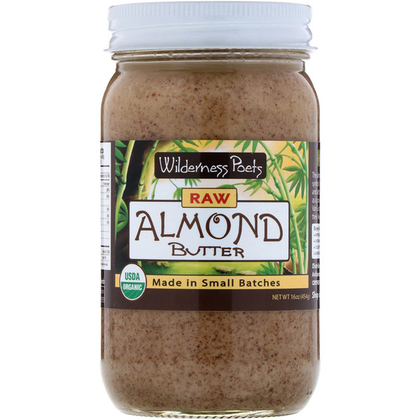 Wilderness Poets, Raw Almond Butter, 16 oz (454 g)