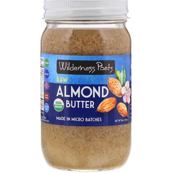 Raw Almond Butter, 16 oz (454 g)